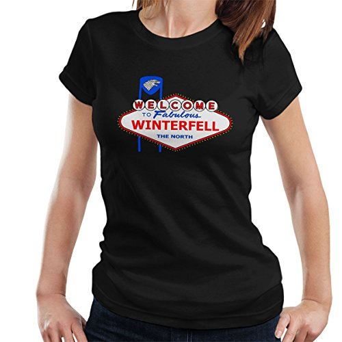 Viva Winterfell Game Of Thrones Las Vegas Women's T-Shirt Black