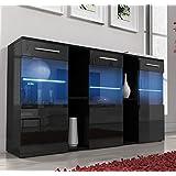 Muebles Bonitos-Aparador Arlesa negro con LED