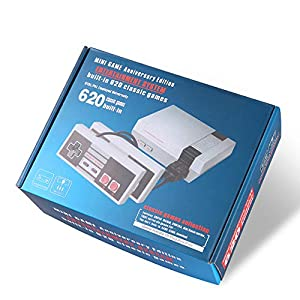 Retro Familie Edition Classic Mini Konsole Eingebaute 600 Spiele AV-Ausgang – Mit zwei Controller