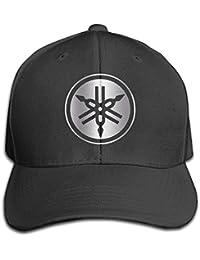 Hittings Black Yamaha Platinum Men's Adjustable Peaked Baseball Caps Black