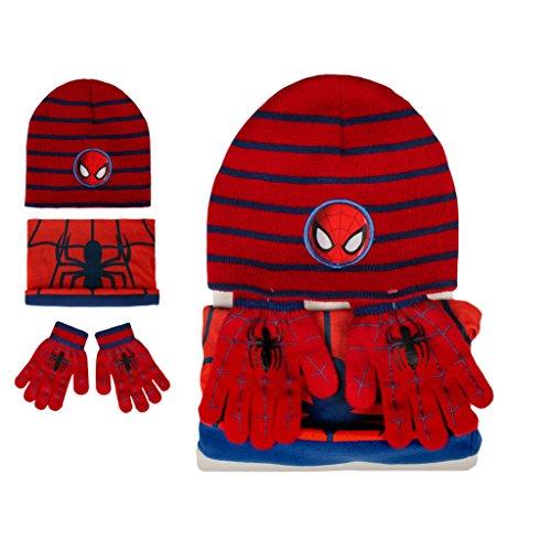 Conjunto braga cuello gorro guantes Spiderman...