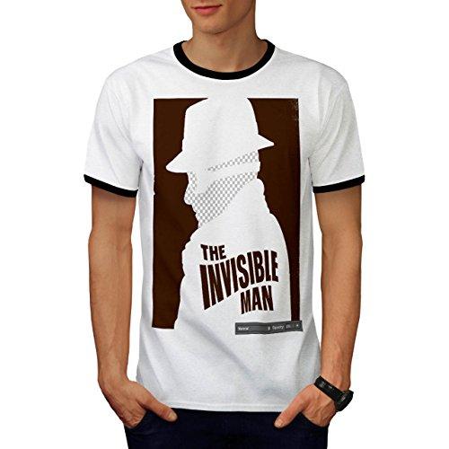 Unsichtbar Mann Mode Film Poster Herren M Ringer T-shirt | Wellcoda (Weibliche Film Stars Kostüme)