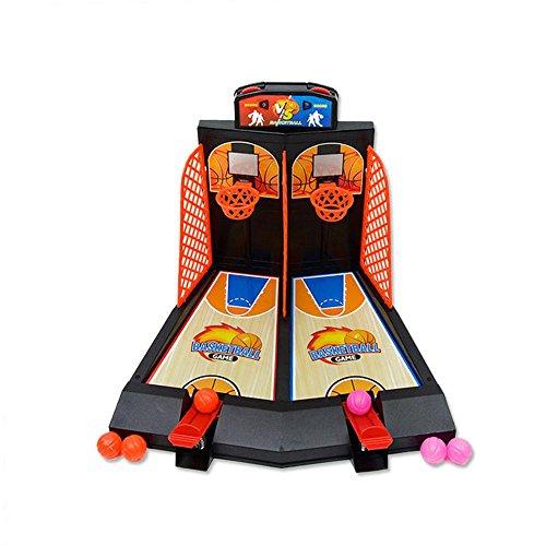 Basketball Shooting Game, Desktop Tisch Basketball Mini Tabletop Shooting Spielzeug Classic Arcade Shootout Spiele Basketballkorb Set, Fun Sports Spielzeug für Adults-Help reduzieren Stress (Tabletop-sport-spiel)