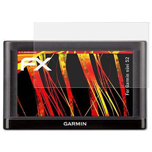 atFoliX Schutzfolie kompatibel mit Garmin nüvi 52 Displayschutzfolie, HD-Entspiegelung FX Folie (3X) (Garmin Gps 52lm)