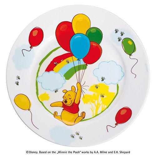 eller DISNEY WINNIE THE POOH Kinderteller Porzellan spülmaschinengeeignet farb- und lebensmittelecht (Winnie The Pooh Besteck)