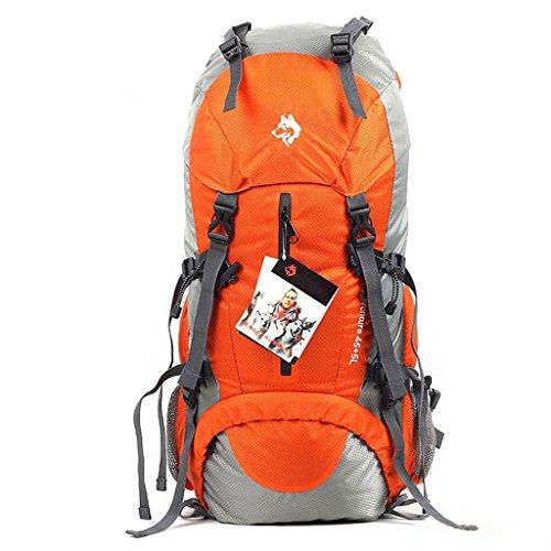 50L im Freienberg Tasche Nylon Sporttasche ultraleichten Rucksack Wandern Outdoor-Mode Schultertaschen Orange