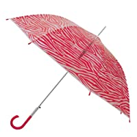 Weatherproof 48 Inch Clear Dome Fashion Prints Stick Umbrella