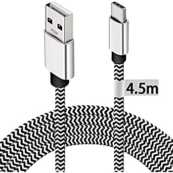 Micro Usb Cable 4 5m Extra Long Android Fast Charging Amazon Co Uk