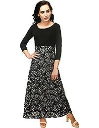 Adyuth Women Crepe Maxi Dress