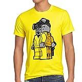 style3 Brick Bad T-Shirt Herren white meth walter crystal breaking tv serie, Größe:M;Farbe:Gelb