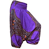 PANASIAM Aladin Pants, Print-Design-style: vas Butterfly in lila