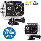 Captcha Wi-Fi 4K Waterproof Sports Action Camera - 4K Ultra HD, 16MP,2 Inch LCD Display, HDMI Out, 170 Degree Wide Angle With HD 1080p 12MP Waterproof Action Camera Compatible With Xiaomi, Lenovo, Apple, Samsung, Sony, Oppo, Gionee, Vivo Smartphones (One