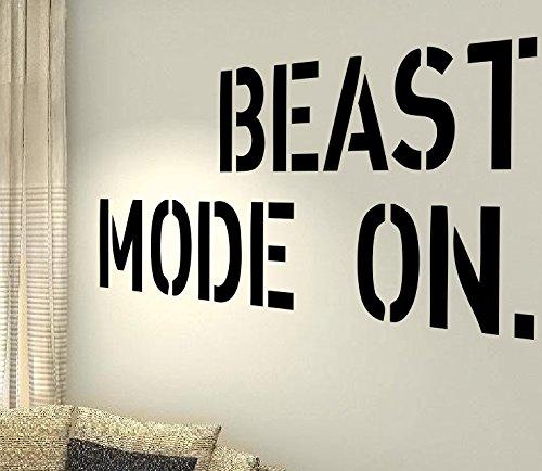 Beast Mode On–Gesundheit Training Motivation Workout Gym Fitness Herz Life Family Love House zusammen Zitate Wand Vinyl Aufkleber Aufkleber Art Decor DIY