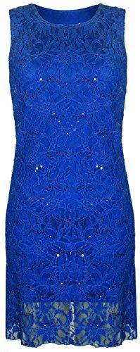 Fashion 4 Less Damen Kleid Königsblau