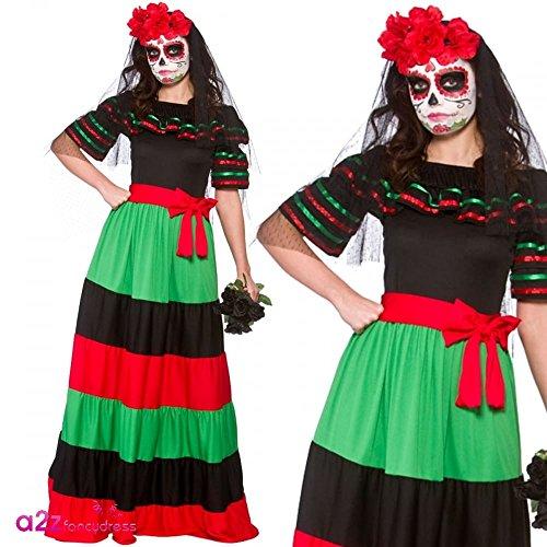 Imagen de wicked  disfraz de mexicana para el día de los muertos  46 48cm