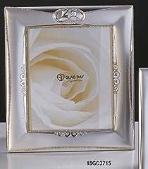 Idea Regalo - Subito disponibile Cornice Portafoto 29X33 cm RICORDO nozze argento 25 anni matrimonio ARGE