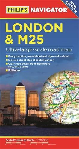 philips-london-and-m25-navigator-road-map