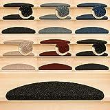 Kettelservice-Metzker Stufenmatten Ramon MW Halbrund | in verschiedenen Set Varianten | 65x21x3,5cm | Anthrazit 15 Stück