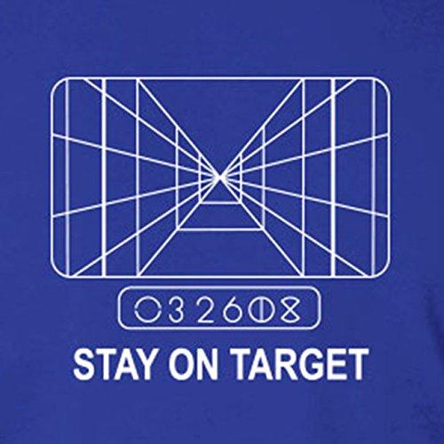SW: Stay on Target - Herren Langarm T-Shirt Grau Meliert