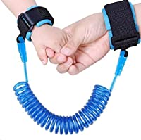 Anti Lost Safety Wrist Link Belt, Carryme 1.5M Baby Toddler Reins Safety Harness Strap Leash Walking Hand Belt Child Kids Travel Cares Safety Restraint Wristband Security Elastic Wire Rope (Blue)