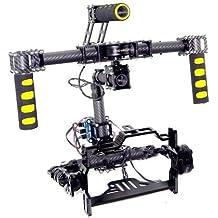 Gowe? 3axis Brushless Gimbal de fibra de carbono de mano cámara Mount w/hueca Motor & AlexMos Controlador de cardán para 5d 7d cámaras fotografía