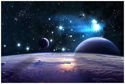 Wallario Premium XXL Vliestapete Planeten im Weltall – Größe: 400 x 267 cm
