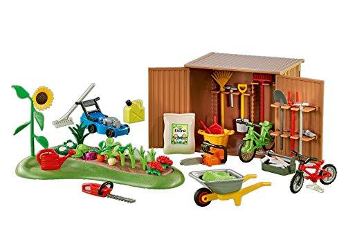 PLAYMOBIL 6558 - Geräteschuppen mit Beet / Gartenschuppen (Folienverpackung)