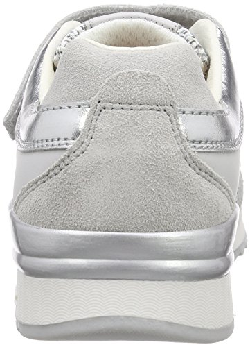 Geox J MAISIE GIRL F, Sneakers basses fille Gris - Gris clair (C1010)