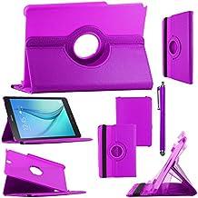 ebestStar - para Samsung Galaxy Tab A 9.7 T550 / S Pen P550 [: 242.5 x 166.8 x 7.5 mm, pantalla 9.7''] - Estuche Carcasa Funda PU cuero 360° rotativa + Estilete táctil, Color Violeta