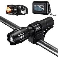 Sainlogic s LED Outdoor, CREE T6 Taktische Zoombar Wasserfest Tragbare Taschenlampen mit Einstellbar Fokus für Wandern Camping Handlampe, 20 x 13 x 5,5
