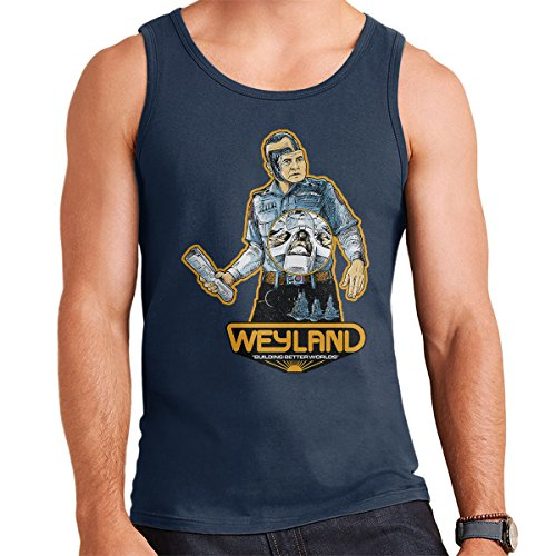 Weyland Building Better Worlds Alien Men's Vest Navy Blue