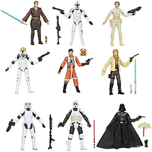 Hasbro HAS76258 - Figura Star Wars - Fig-s.w.black serie surt.(12)(12cm) SURTIDO