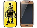creatisto Schutzfolie Samsung Galaxy S4 Mini   Smartphone-Schutz Geräte Schutz Schutz Sticker Folie Handy-Design Design Cover   Design Motiv Retro Robot