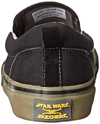 Skechers Jedi Knight Hommes Toile Baskets Noir