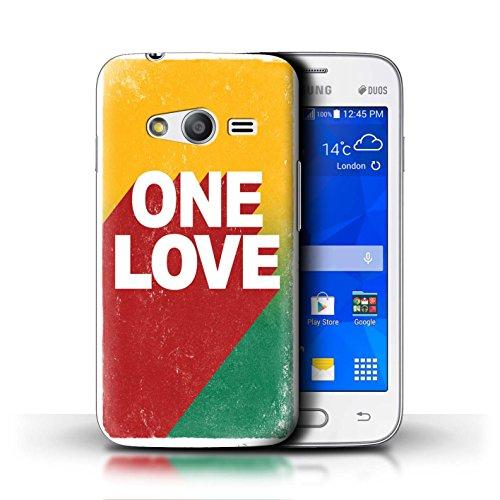 Stuff4 Custodia/Cover/Caso/Cassa Rigide/Prottetiva Stampata con Il Disegno Arte Rasta Reggae per Samsung Galaxy Ace 4 Lite/G313 - One Love Manifesto