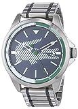 Lacoste Unisex Analog Quarz Uhr mit Edelstahl Armband 2010943