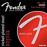 Fender 250XS Nickel Plated Steel Electric Guitar Strings - Extra Super Light