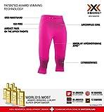 X-Bionic Energizer 4.0 3/4, Strato Base Pantaloni Funzionali Donna, Rosso (Neon Flamingo/Anthracite), M
