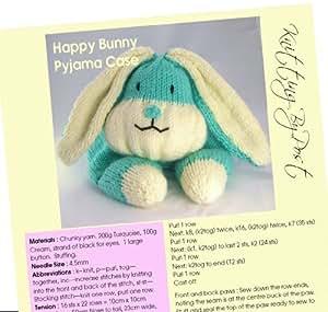 The Happy Bunny Pyjama Case Knitting Pattern