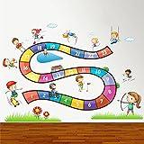 ZigRocket Boardgame for Fun - Decalcomanie della parete della decalcomania della decorazione della parete della decorazione della casa di DIY DIY Wall Sticker Murales 80 x 110 cm