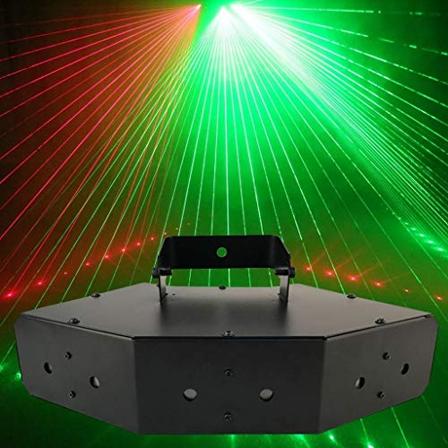 RGB Disco Lights, Strobe Light 6-Loch Disco Flash Lighting RGB Bühnenprojektionslampe Sprachsteuerung für KTV Home Party -601 -