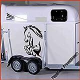 Pferdefront beim Sprung Modell 1 Aufkleber Anhänger Pferd Anhänger ca. 60x80cm