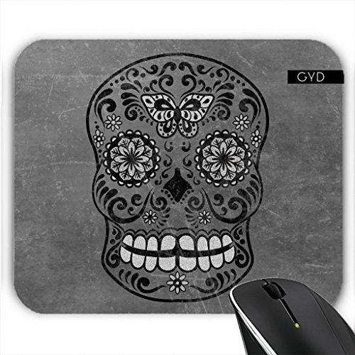 Mousepad - Dunkle Gotische Silbergrau Zucker by (Zucker Schädel Ideen)