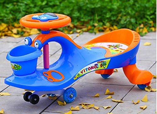 BBZZZ-bike Bambini Twist The Car Muto rotella Wobble bambino scorrevole giocattolo automobile con mu