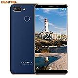 Smartphone ohne Vertrag,OUKITEL C11 Pro Android 8.1 Dual SIM 4G LTE Handy,5.5 Zoll(18:9) Touchscreen 3400mAh Akku,3GB RAM+16GB ROM(Erweitern Sie 64G) 8+2MP Hauptkamera,Fingerabdruck+Gesicht ID-Blue