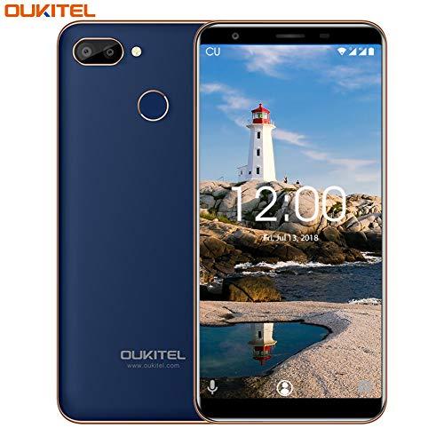 Smartphone ohne Vertrag,OUKITEL C11 Pro Android 8.1 Dual SIM 4G LTE Handy,5.5\'\'(18:9) HD + Bildschirm 3400mAh Akku,3GB RAM+16GB ROM(Erweitern Sie 64G) 8+2MP Hauptkamera,Fingerabdruck+Gesicht ID-Blue