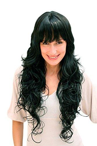 WIG ME UP Perücke, schwarz, lang, wallendes Haar 4306-1B ca.70 ()