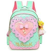 Waterproof PU Leather Kids Princess Backpack Cute School Bookbag for Girls