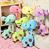 #10: Kuhu Creations Chow 1Pc Lovely Giraffe Dear Baby Kid Birthday Party Gift Animal Dolls Soft Plush Toy (18Cm)