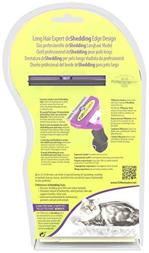 FURminator Fellpflege deShedding-Pflegewerkzeug für langhaarige große Katzen über 4,5 kg, Größe L, 1 Tool - 3